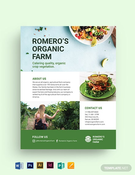 Bio Food for caterer Flyer Template