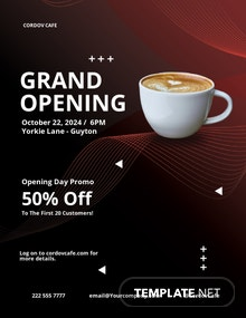Cafe Restaurant Flyer Template