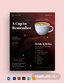 Cafe Restaurant Flyer Template