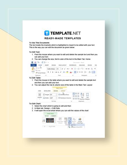 Nursing Flow Sheet Template Instructions