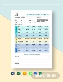 Nursing Flow Sheet Template
