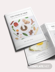 Minimal Food Magazine Template