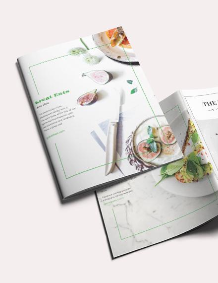 Restaurant Magazine Template
