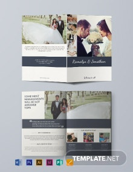 Creative Wedding Bifold Brochure Template