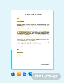 Free Customer Service Offer Letter