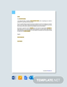 Free Project Proposal Request Letter