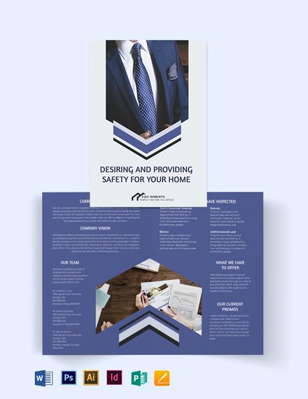 Home Inspector Bi-Fold Brochure Template