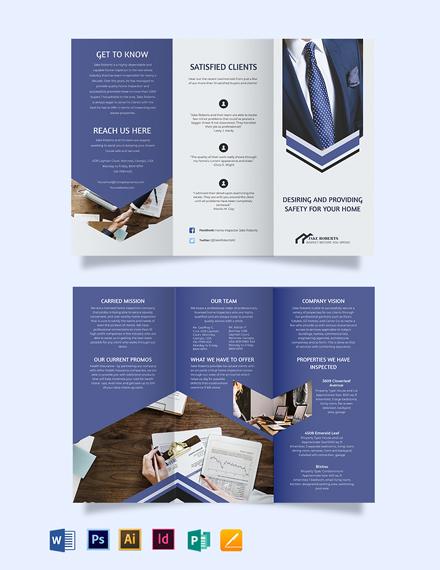 Home Inspector Tri-Fold Brochure