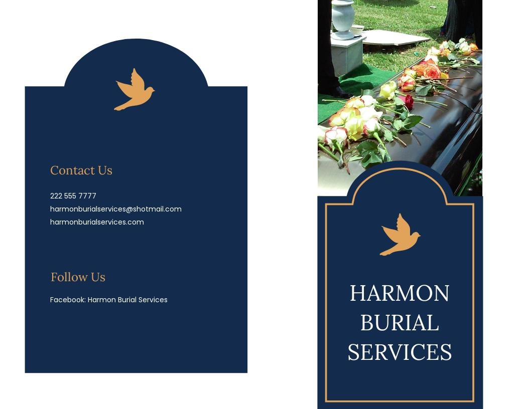 Catholic Burial Funeral Bi Fold Brochure Template.jpe