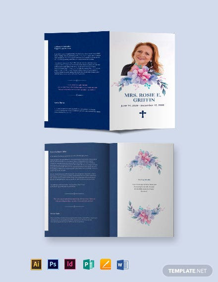 catholic funeral prayer bi fold brochure