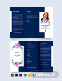 Catholic Funeral Prayer Tri-Fold Brochure Template