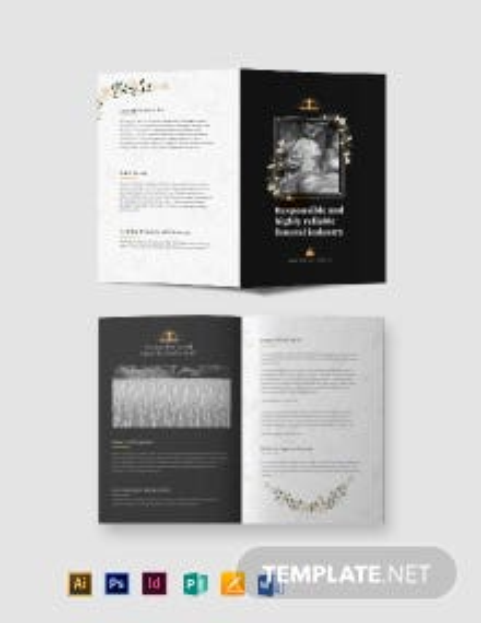 Catholic Funeral Service Bi-fold Brochure Template