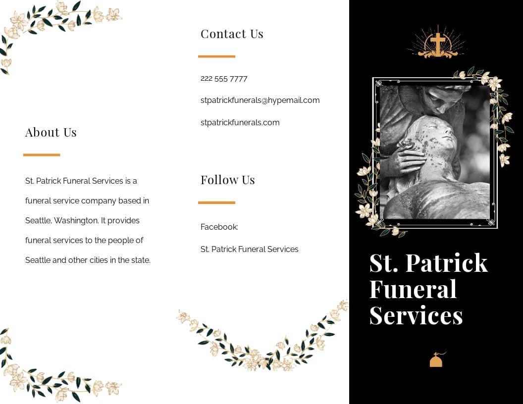 Catholic Funeral Service Tri Fold Brochure Template.jpe