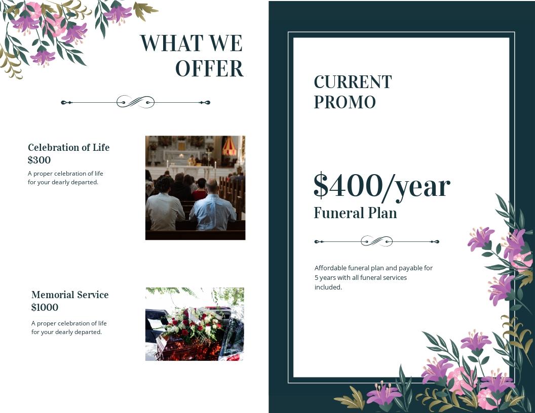 Celebration of Life Catholic Funeral Bi Fold Brochure Template 1.jpe