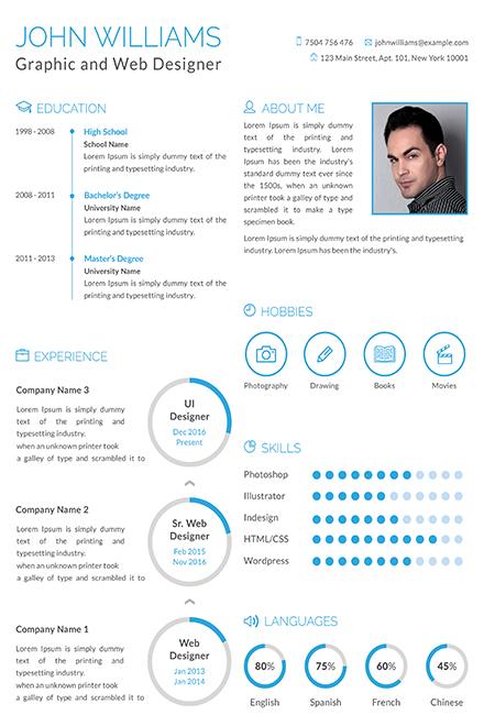 Free Graphic and Web Designer Resume