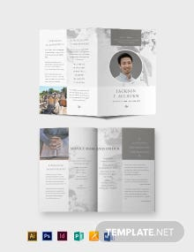 Celebration of Life Evite Funeral Bi-Fold Brochure Template