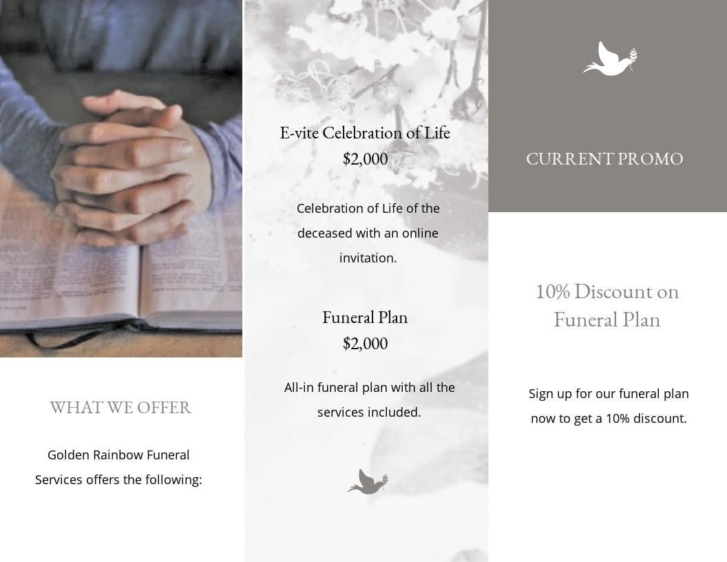 Celebration of Life Evite Funeral Tri Fold Brochure Template 1.jpe