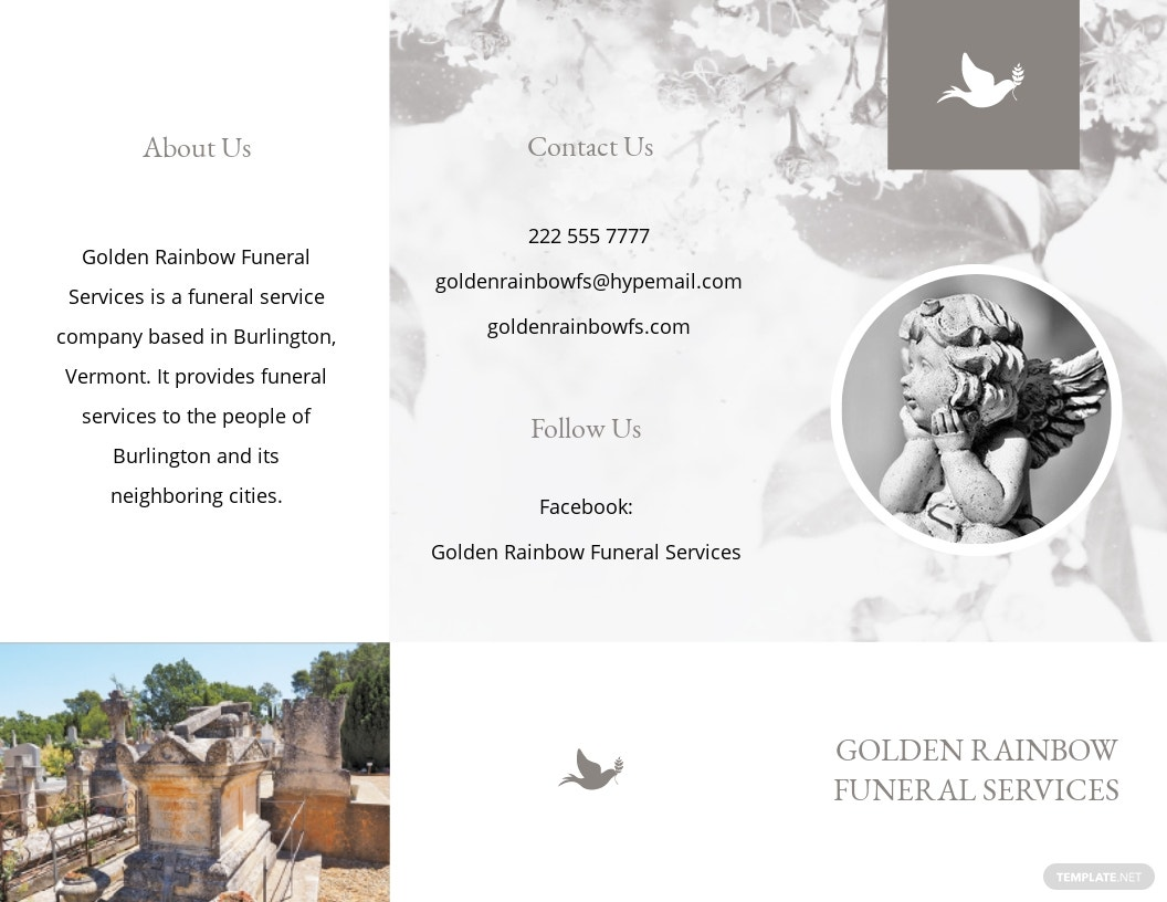 Celebration of Life Evite Funeral Tri Fold Brochure Template.jpe