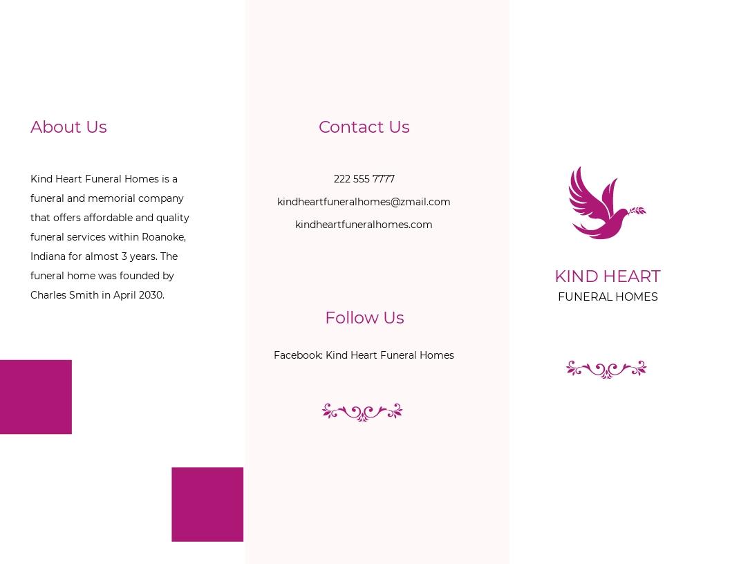 Celebration of Life Funeral Program Tri Fold Brochure Template.jpe