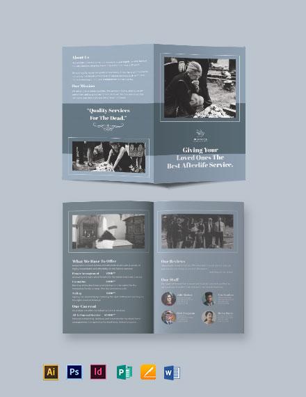 Christian Funeral Service Bi-Fold Brochure Template