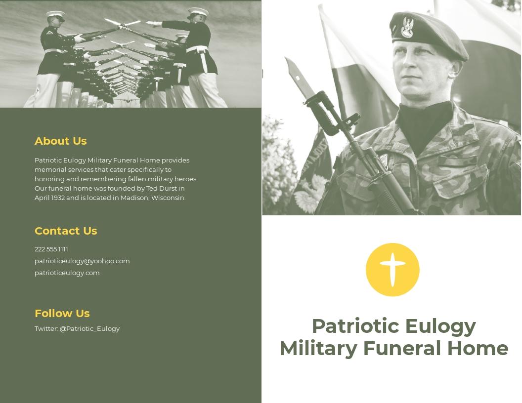 Military Eulogy Funeral Bi Fold Brochure Template.jpe