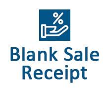 Free Blank Sale Receipt Template