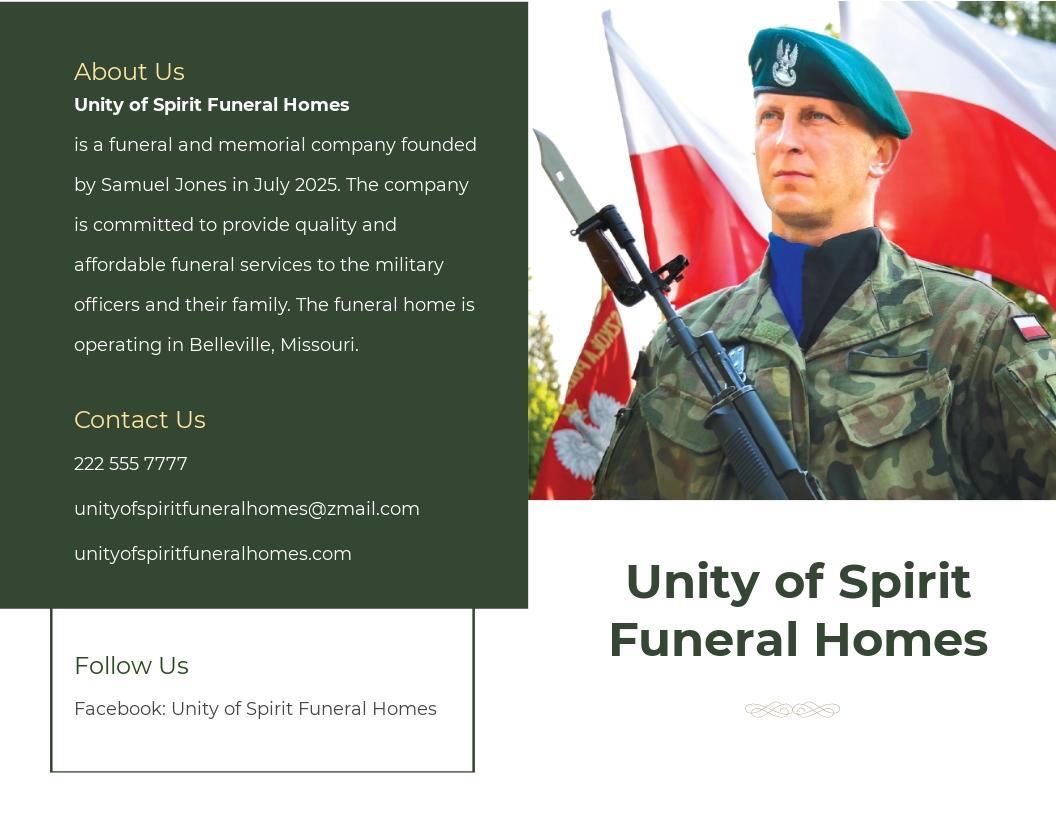 Military Funeral Program Bi Fold Brochure Template.jpe