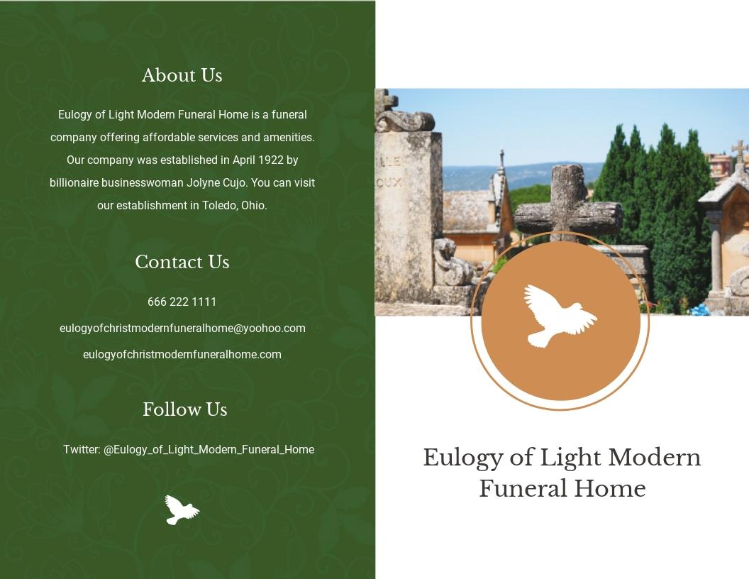 Modern Eulogy Funeral Bi Fold Brochure Template.jpe