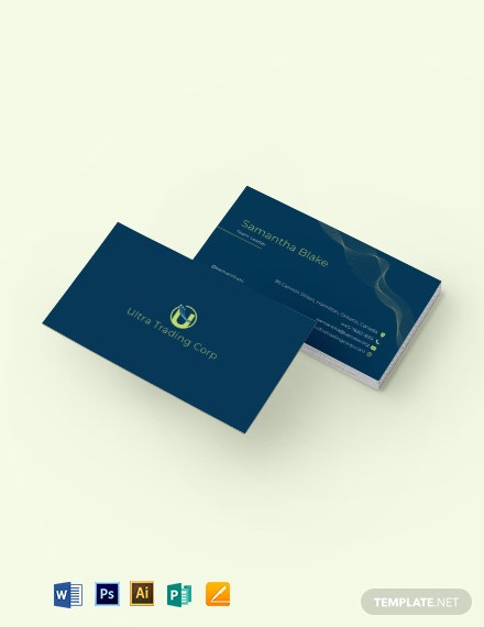 Trading Company Business Card Template