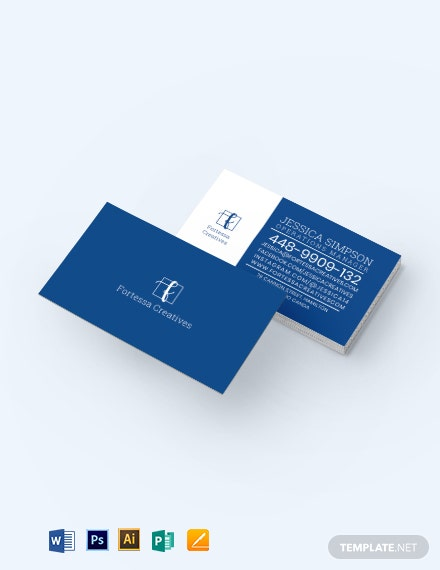 Typo Business Card Template