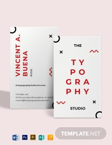 Typography Studio business card Template