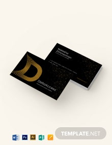 Unique Business Card Template