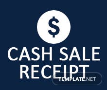 Free Cash Sale Receipt Template