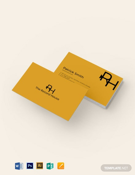 Videography Business Card Template