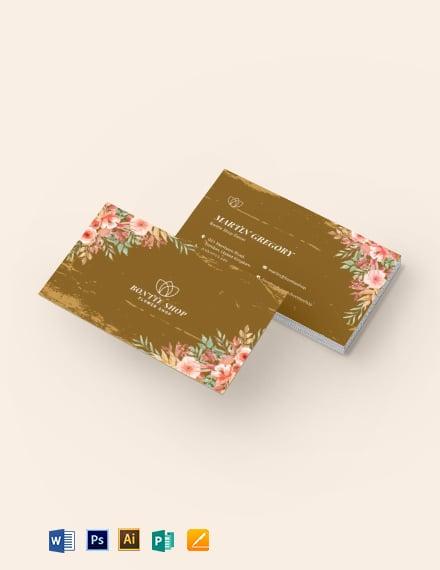 Vintage Floral Business Card Template