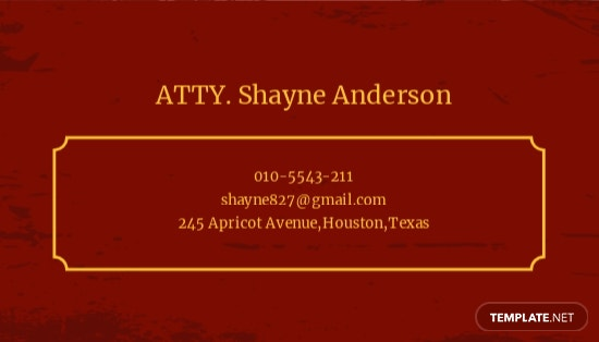 Vintage Law Firm Business Card Template 1.jpe