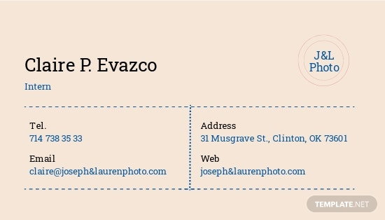 Vintage Photography Business Card Template 1.jpe