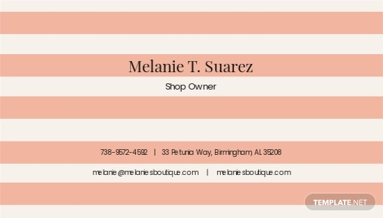 Vintage Stripes Business Card Template 1.jpe