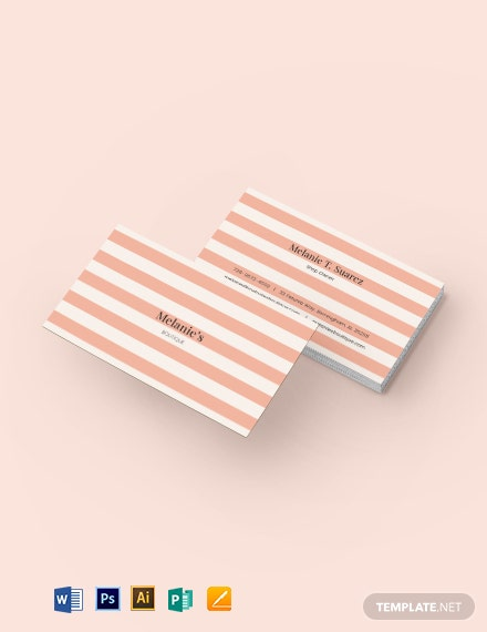 Vintage Stripes Business Card Template