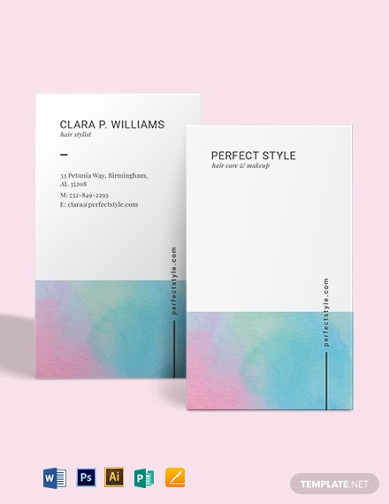 Watercolor Wash Business Card Template