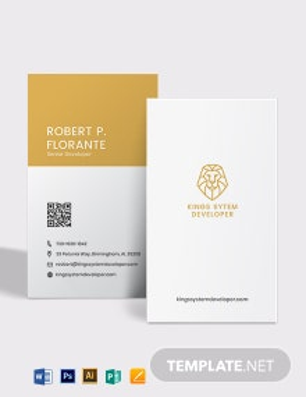Web Developer Business Card Template