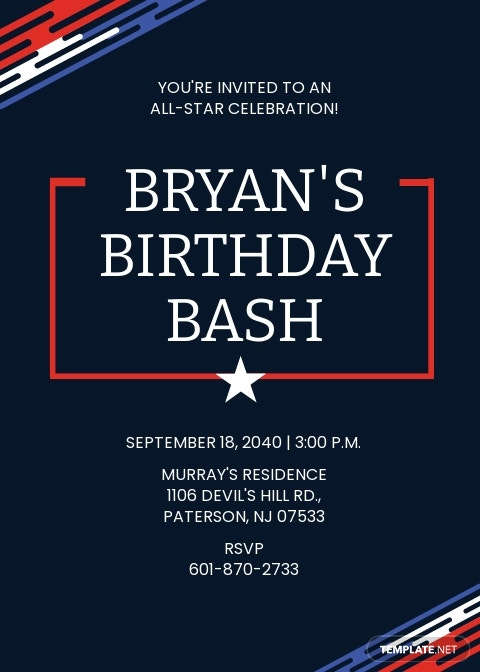 Birthday Sports Ticket Invitation Template