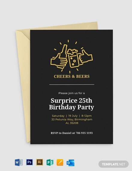 Birthday Surprise Invitation Template