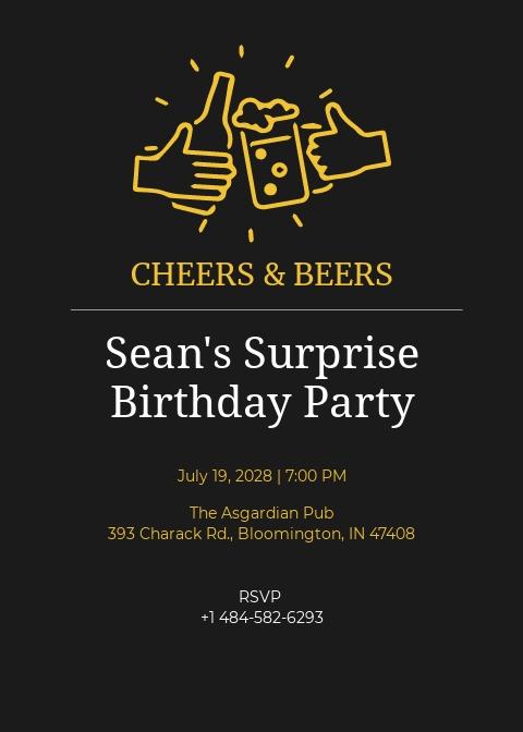 Birthday Surprise Invitation Template