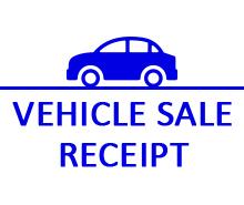 Free Vehicle Sale Receipt Template