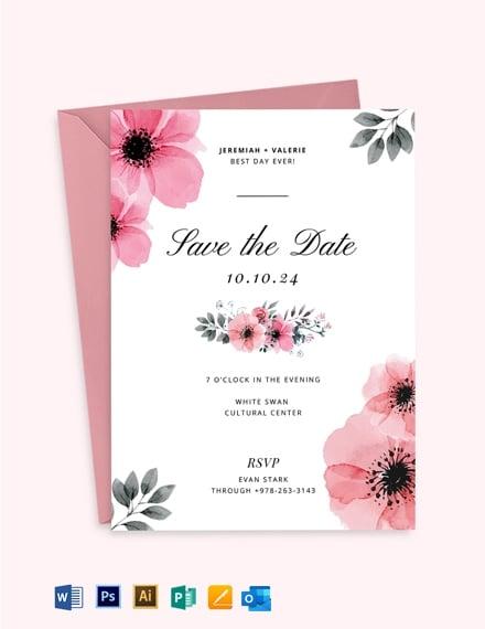 Bloomy Wedding Invitation Template