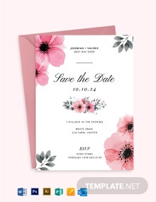 Bloomy Wedding Invitation Template