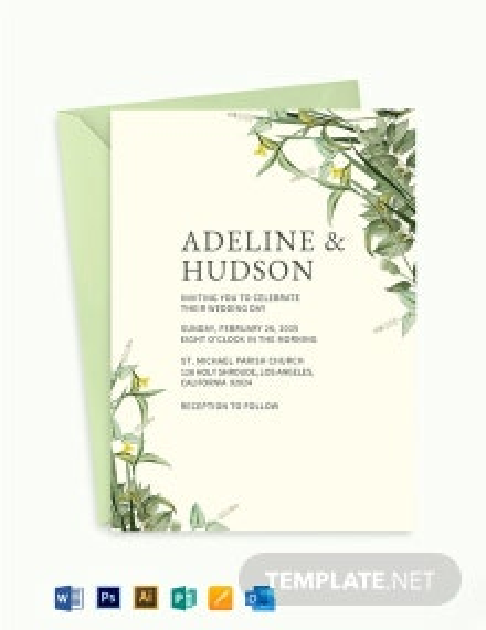 Botanika Fall Wedding Invitation Template