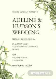 Botanika Fall Wedding Invitation Template