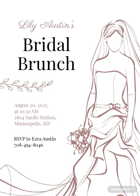 Bridal Shower brunch invitation template